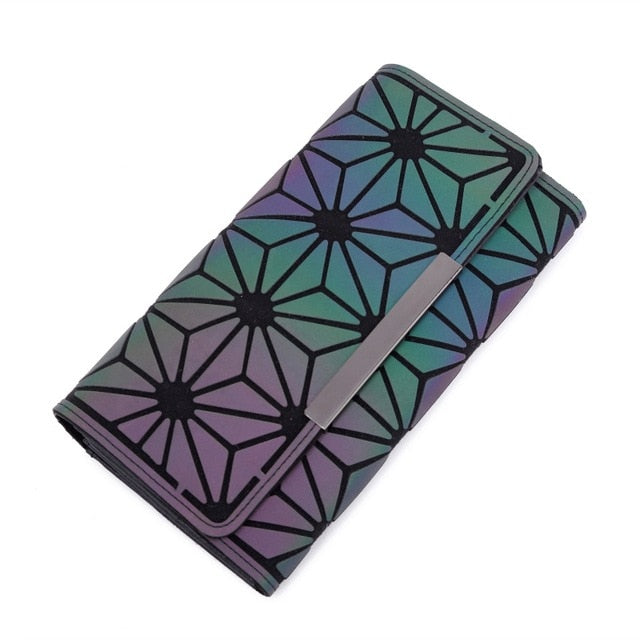 Luminous Wallet Trifold Flowers