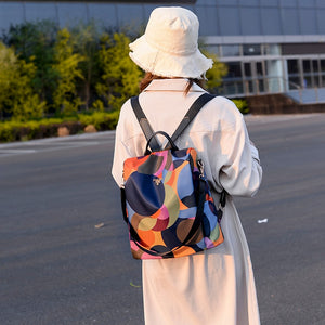 Oxford Anti Theft Backpack / Midnight Orange