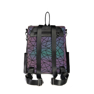 New Reflective Geometric Luminous Backpack v3 back side
