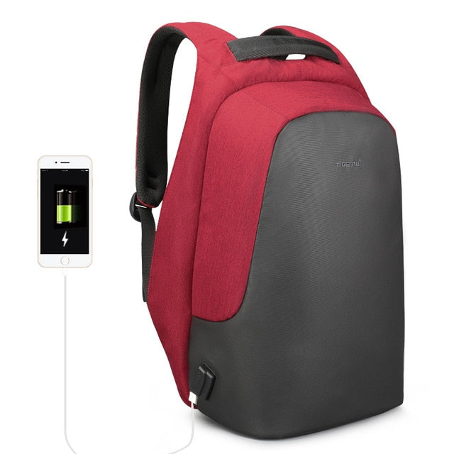Bobby Anti-Theft Backpack with USB Charging Port - Red