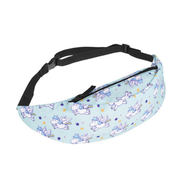 Blue Unicorn Fanny Pack