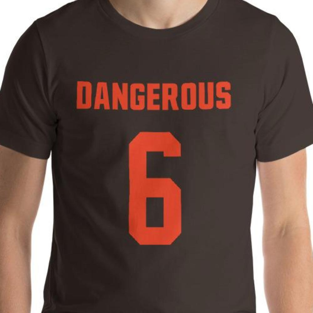 1379b1a215d Baker Mayfield Unisex T-Shirt - Woke Up Feeling Dangerous - Cleveland  Football Brown Orange