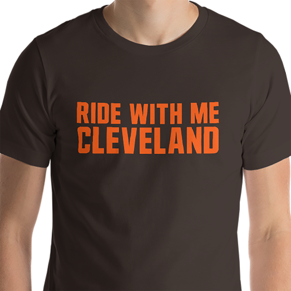 premium selection 45a06 c05cb Ride With Me Cleveland Baker Mayfield Cleveland Browns Inspired  Short-Sleeve Unisex T-Shirt