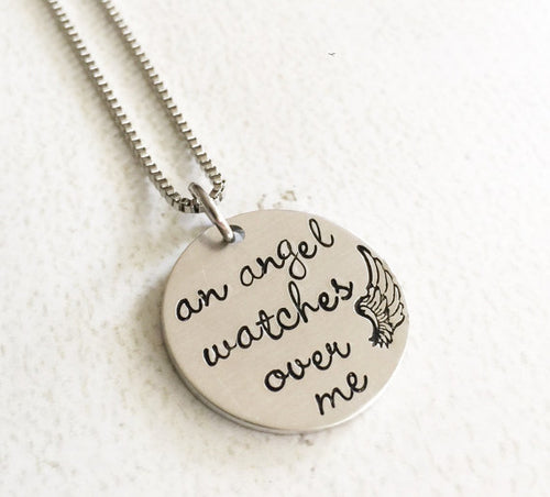 Memorial necklace - Hand stamped necklace - Loss