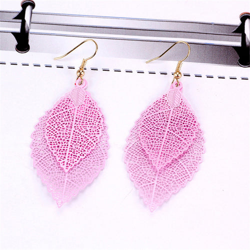 Vintage Gold Colored Leaf Earrings