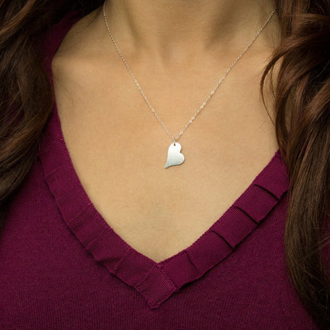 Personalized Heart Necklace,