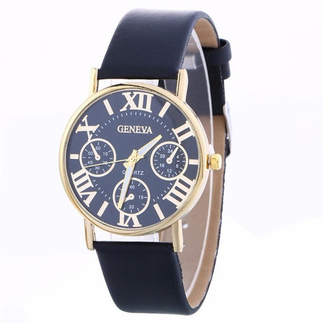 Quartz Leather Band Watch