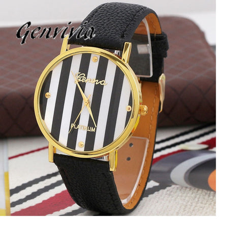 Quartz Striped Watch