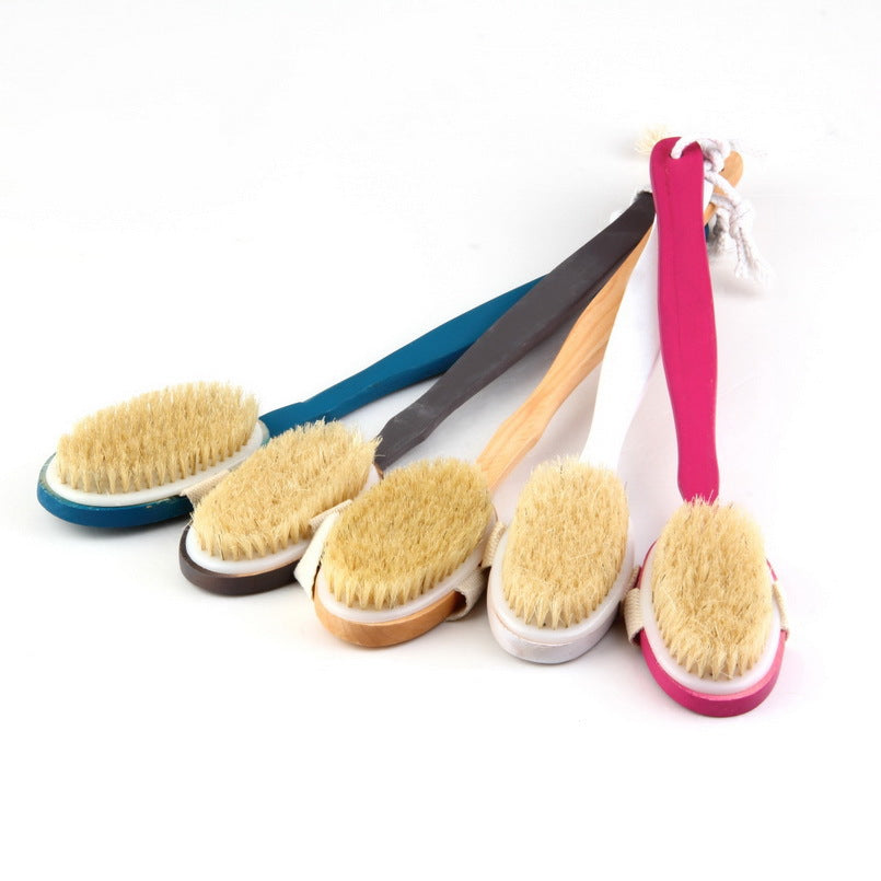 Long Wooden Handle Body Scrub Brush