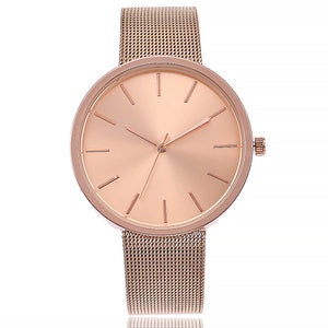 Rose Gold Net Strap Watch