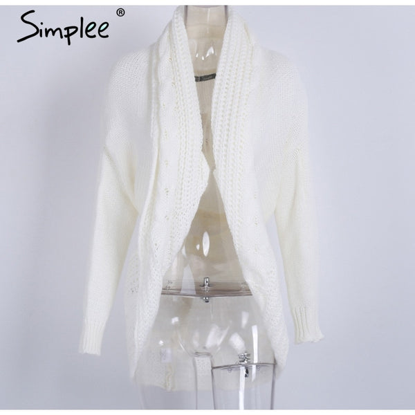 Shrug Knitted Turn Down Collar Sweater Cardigan