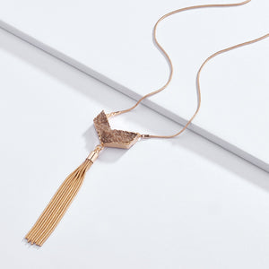 Fashion Snake-Chain Druzy Drusy Quartz Y Charms Chains Tassel Pendant Necklaces