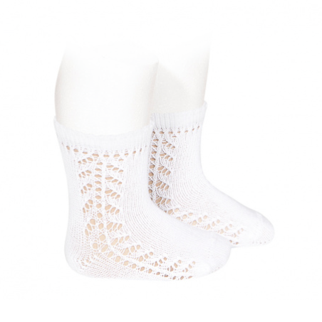 Openwork Socks in White