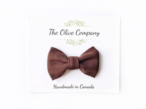 The Finch - Chocolate Brown Bow Tie