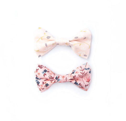 Cotton Bow Tie - Pink Floral