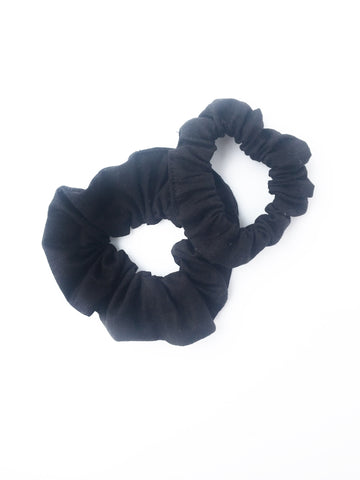 Scrunchie - Black Linen