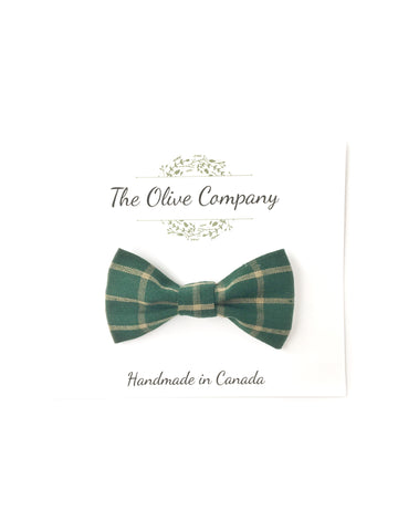 Bow Tie - Forest Plaid
