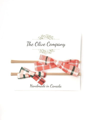 The Maggie Bow - Christmas Plaid