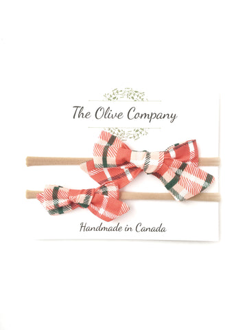 The Ollie Bow - Christmas Plaid