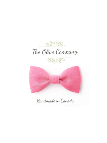 Bow Tie - Bubble Gum Linen