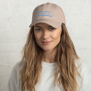 Watch Hill Surf Co. 'Parallel Boards' Hat (Cyan) - Watch Hill RI t-shirts with vintage surfing and motorcycle designs.