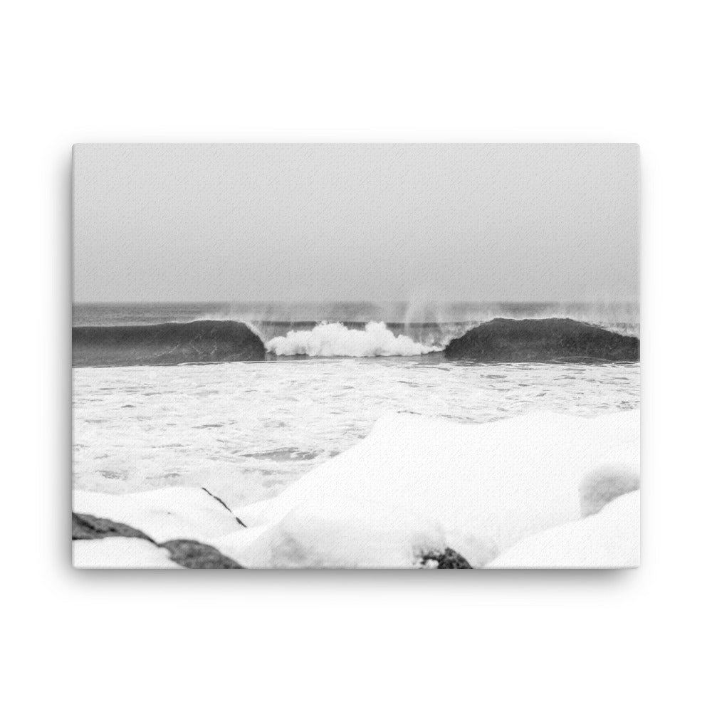 Watch Hill 'Winter Waves', Canvas Prints - Watch Hill RI t-shirts with vintage surfing and motorcycle designs.