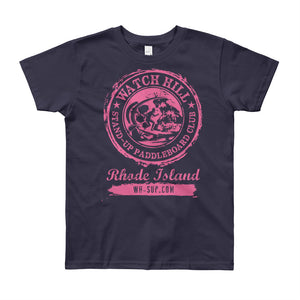 Watchill'n 'Paddle Board Club #3' - Youth Short Sleeve T-Shirt (Pink) - Watchill'n