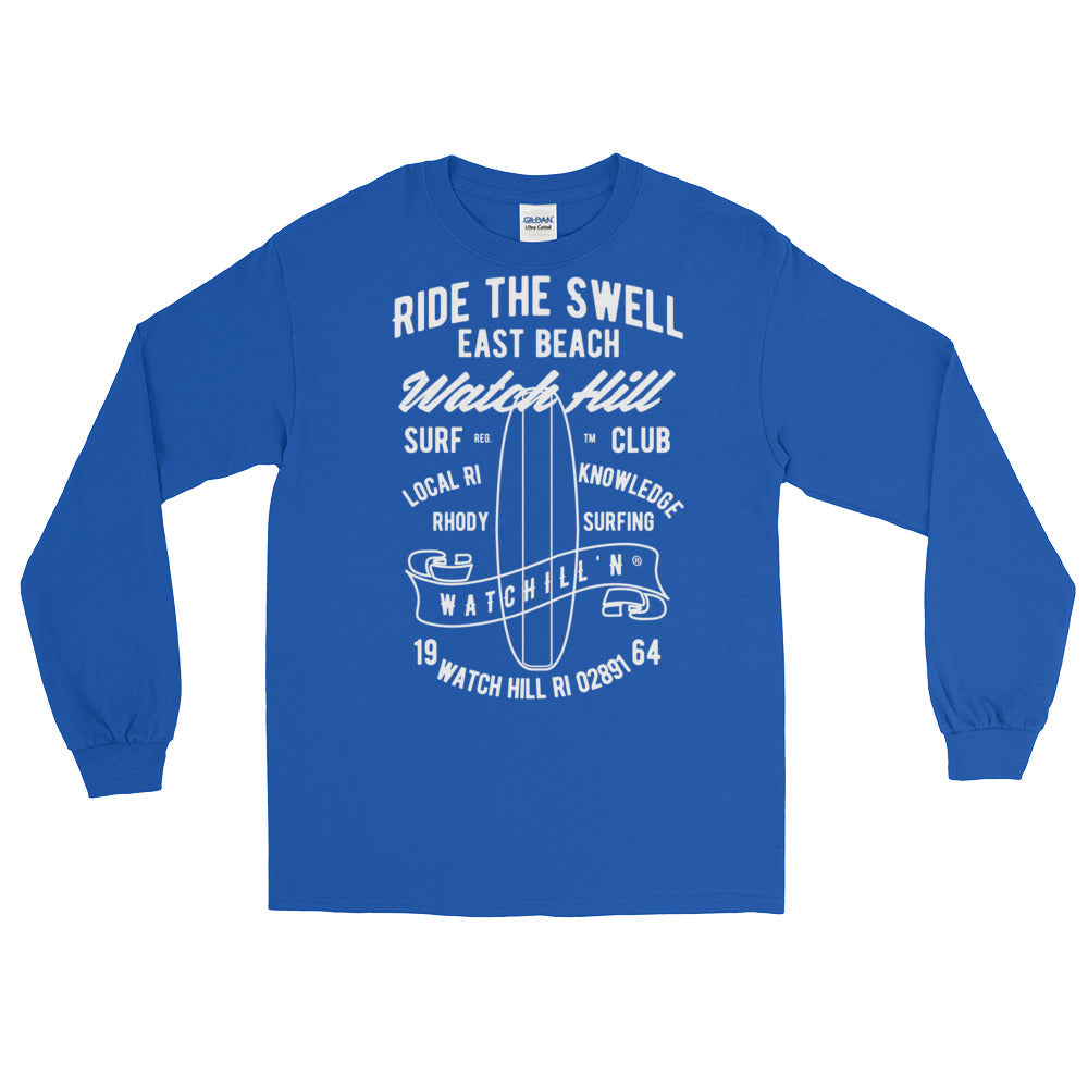 Watchill'n 'Ride the Swell' - Long-Sleeve T-Shirt (White) - Watchill'n