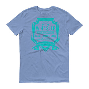 Watchill'n 'Paddle Board Club #2' - Short-Sleeve Unisex T-Shirt (Turquoise) - Watch Hill RI t-shirts with vintage surfing and motorcycle designs.