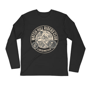 Watchill'n 'Riders Club' Premium Long Sleeve Fitted Crew (Tan) - Watchill'n