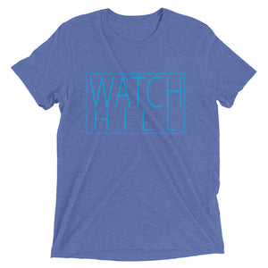 Watch Hill Rectangular Logo Premium Unisex Short Sleeve T-shirt (Cyan) - Watchill'n