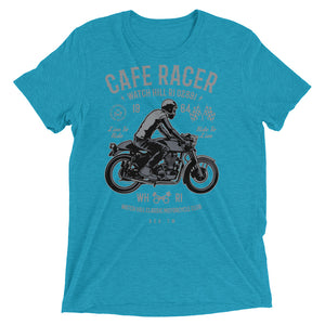 Watchill'n 'Cafe Racer' Unisex Short sleeve t-shirt (Grey/Black) - Watchill'n