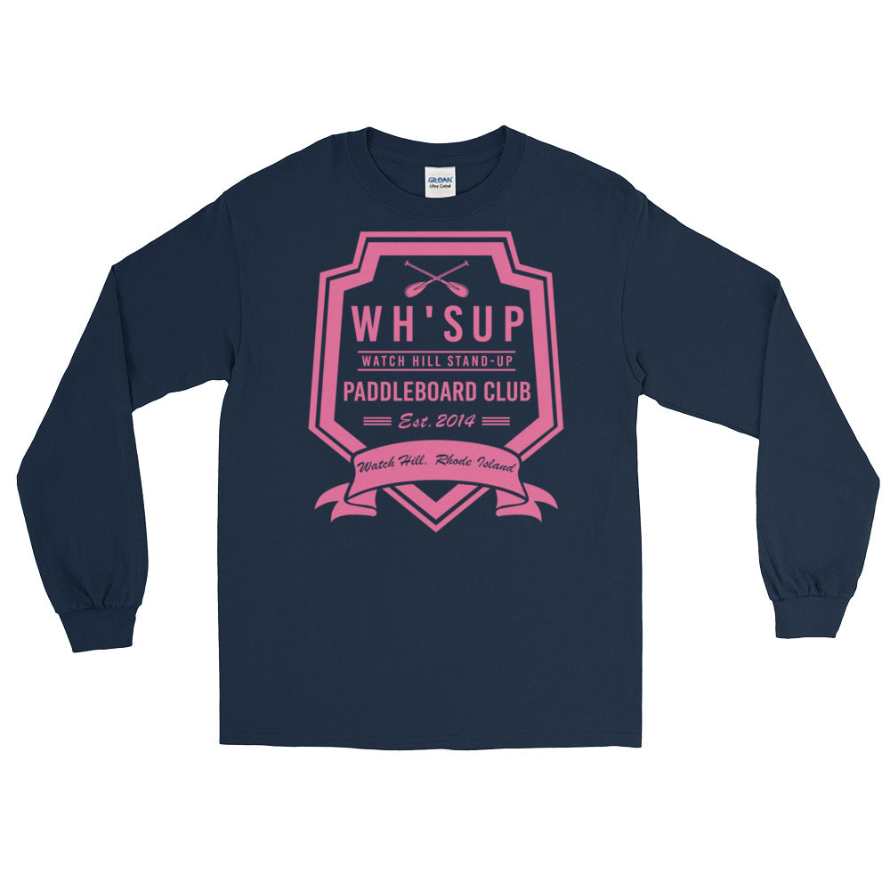 Watchill'n 'Paddle Board Club #2' - Long-Sleeve T-Shirt (Pink) - Watchill'n