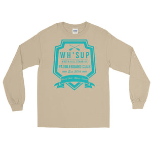 Watchill'n 'Paddle Board Club #2' - Long-Sleeve T-Shirt (Turquoise) - Watch Hill RI t-shirts with vintage surfing and motorcycle designs.