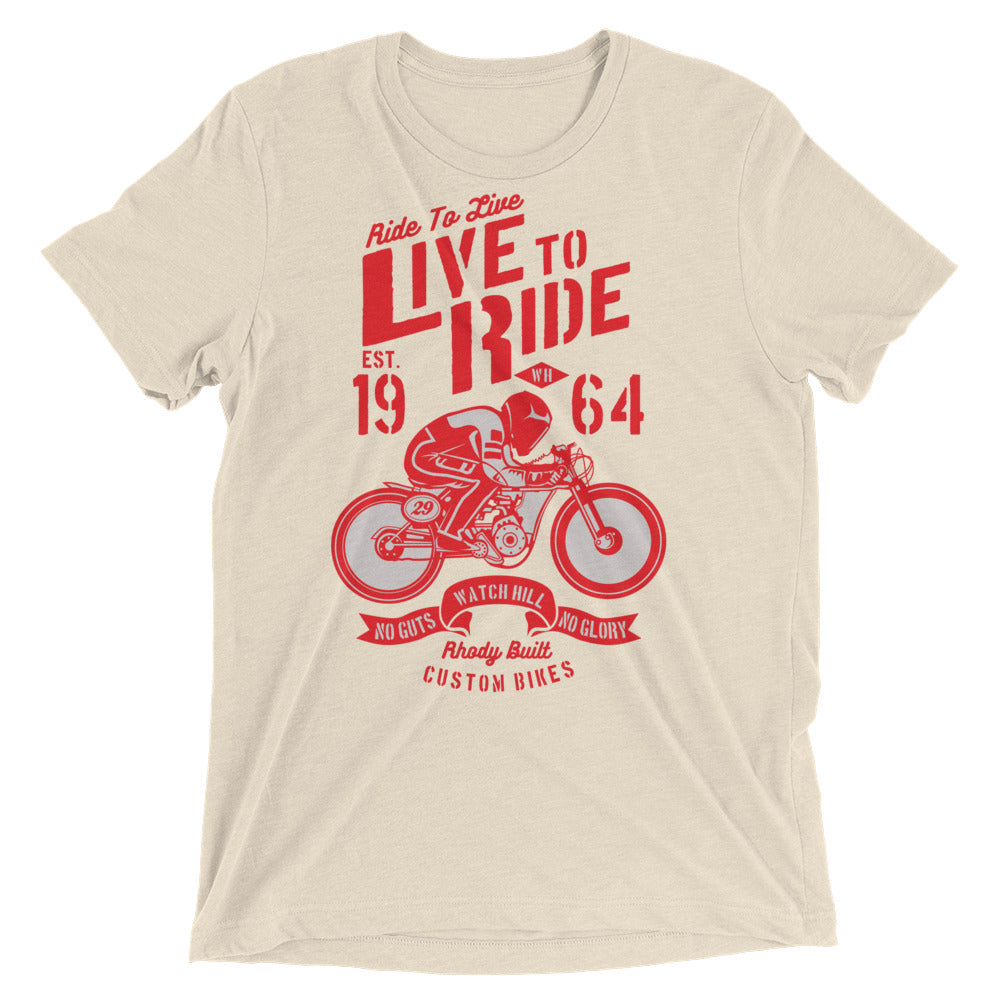 Watchill'n 'Live To Ride' Unisex Short sleeve t-shirt (Red) - Watchill'n