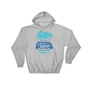 Watchill'n 'Team Surfer' - Hoodie (Blue) - Watch Hill RI t-shirts with vintage surfing and motorcycle designs.