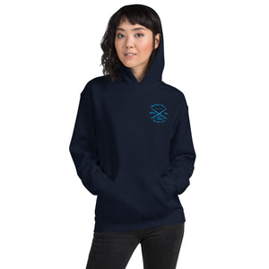 Watch Hill 'Surf Co.' Unisex Hoodie (Blue) - Watch Hill RI t-shirts with vintage surfing and motorcycle designs.