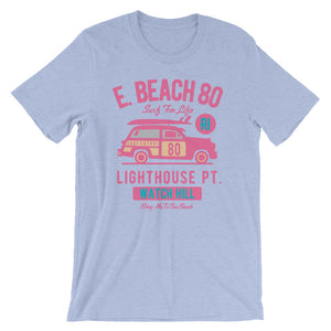 Watchill'n 'Beach Buggy' - Short-Sleeve Unisex T-Shirt (Pink/Turquoise) - Watchill'n