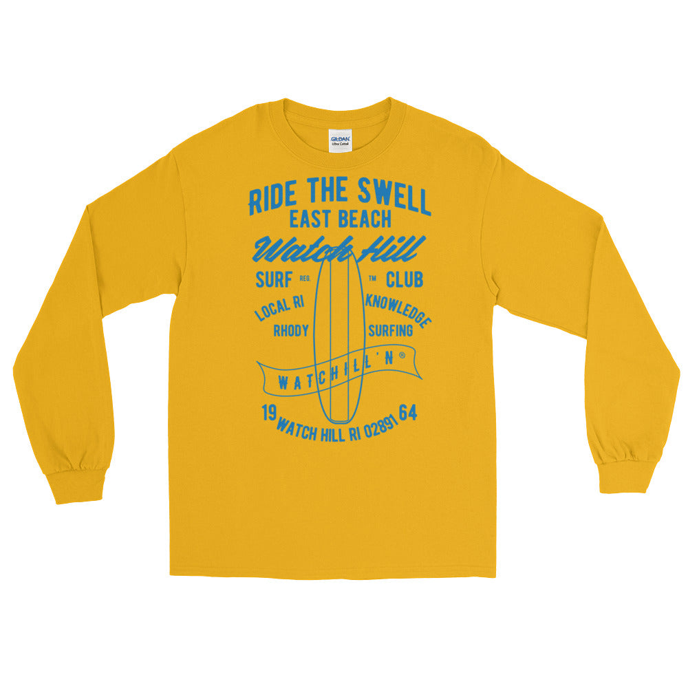 Watchill'n 'Ride the Swell' - Long-Sleeve T-Shirt (Blue) - Watchill'n