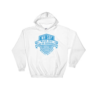 Watchill'n 'Paddle Board Club' - Hoodie (Blue) - Watch Hill RI t-shirts with vintage surfing and motorcycle designs.