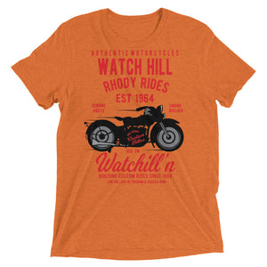 Watchill'n 'Rhody Rides' Unisex Short sleeve t-shirt (Red/Black) - Watchill'n