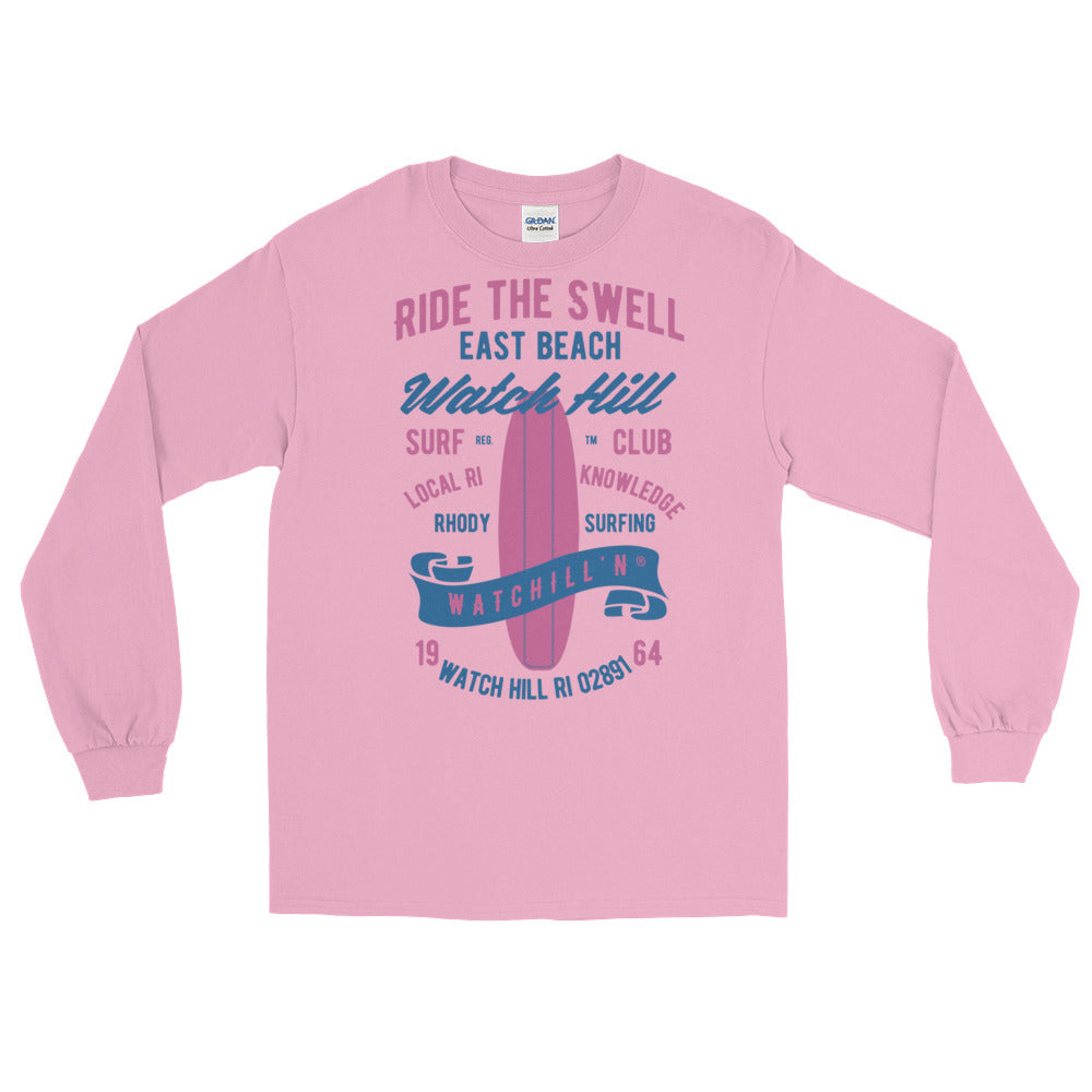 Watchill'n 'Ride the Swell' - Long-Sleeve T-Shirt (Pink/Blue) - Watchill'n