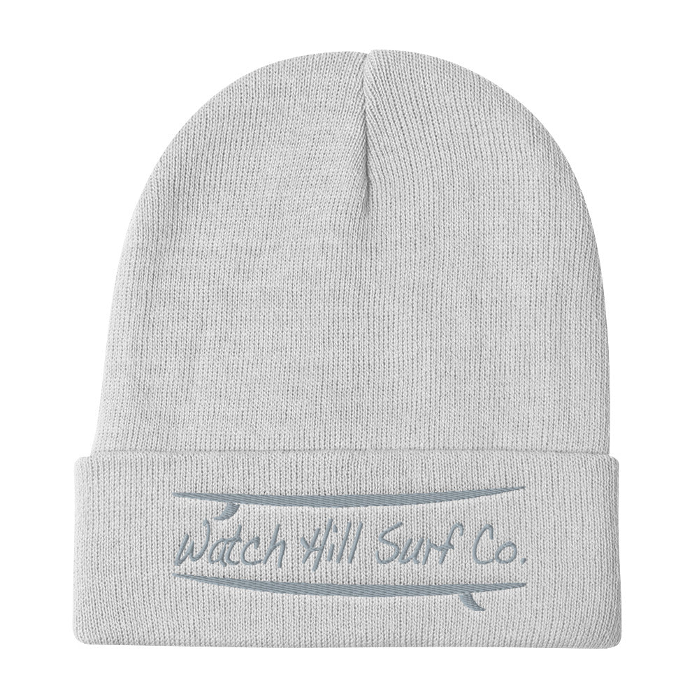 Watch Hill Surf Co. 'Parallel Boards' Embroidered Beanie - Watch Hill RI t-shirts with vintage surfing and motorcycle designs.