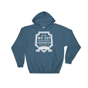 Watchill'n 'Paddle Board Club #2' - Hoodie (White) - Watch Hill RI t-shirts with vintage surfing and motorcycle designs.