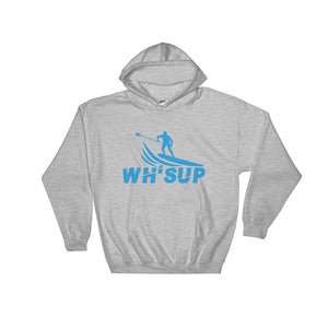 Watchill'n 'WH-SUP Paddle Boarding' - Hoodie (Blue) - Watch Hill RI t-shirts with vintage surfing and motorcycle designs.