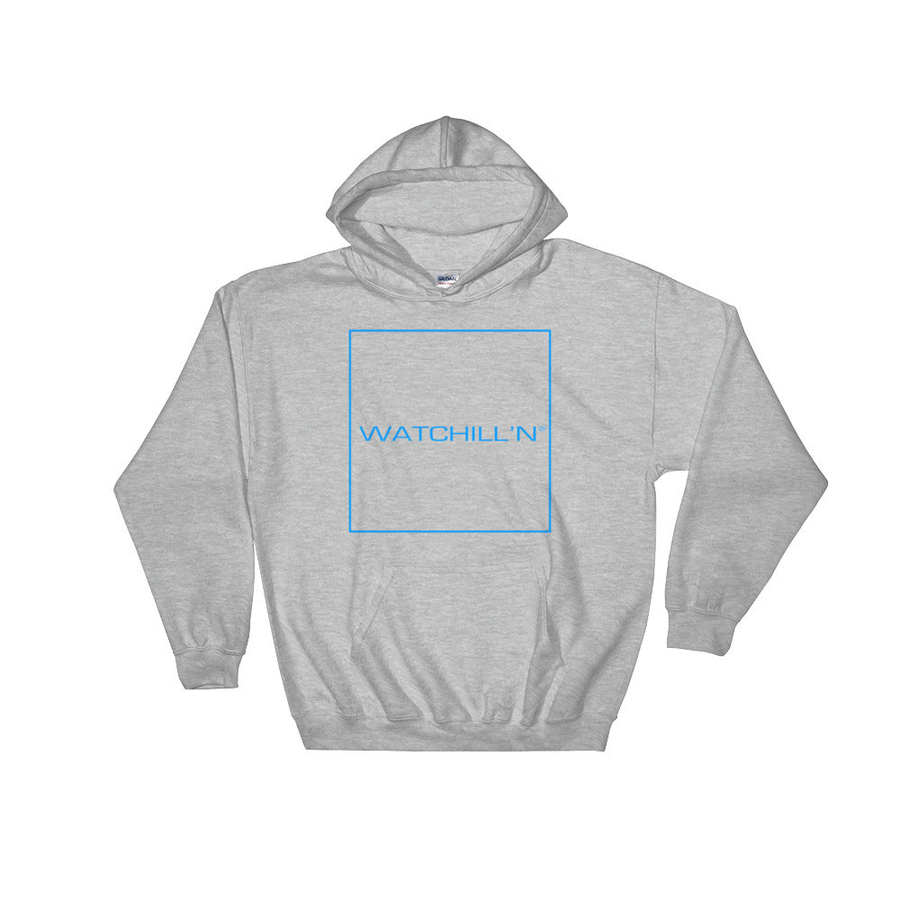 Watchill'n 'Box Logo' - Hoodie (Blue) - Watchill'n