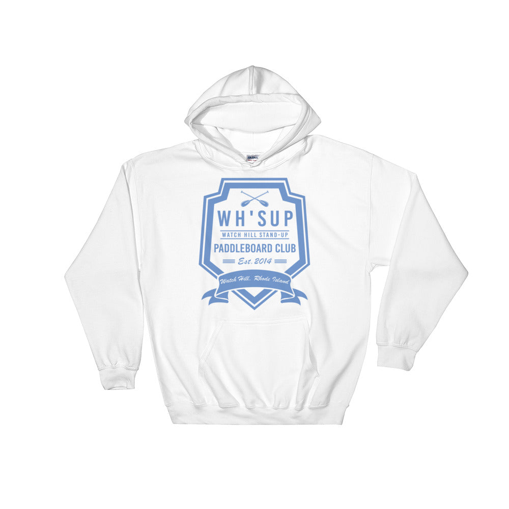 Watchill'n 'Paddle Board Club #2' - Hoodie (Blue) - Watch Hill RI t-shirts with vintage surfing and motorcycle designs.