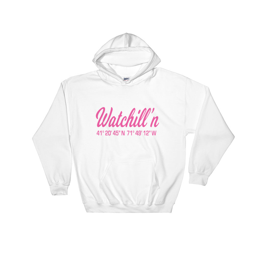 Watchill'n 'Coordinates' Logo - Hoodie (Grey) - Watchill'n
