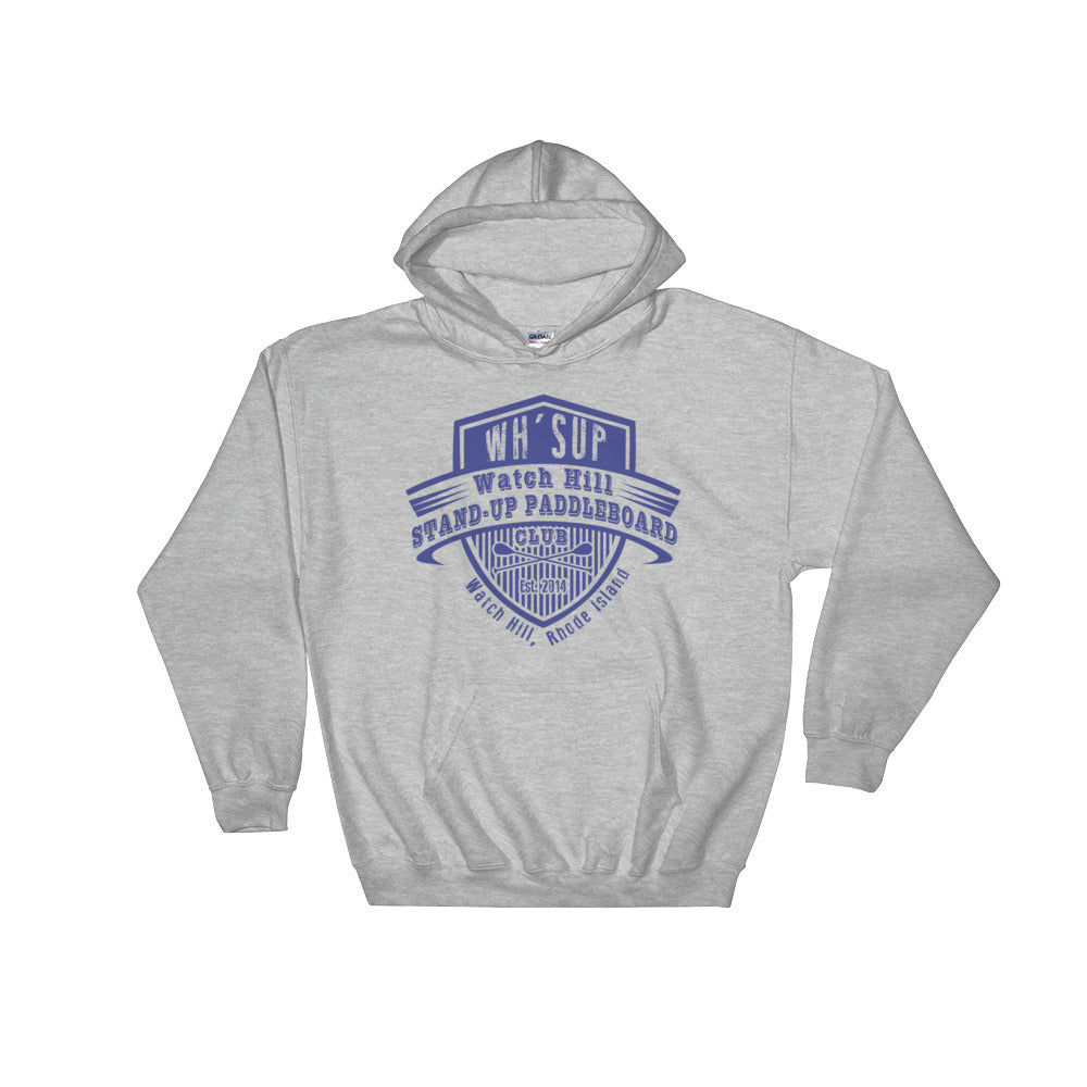 Watchill'n 'Paddle Board Club' - Hoodie (Navy) - Watch Hill RI t-shirts with vintage surfing and motorcycle designs.