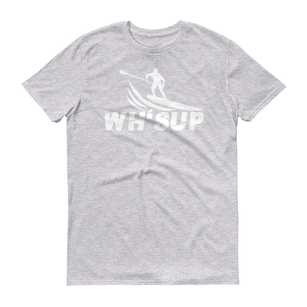 Watchill'n 'WH-SUP Paddle Boarding' - Short-Sleeve Unisex T-Shirt (White) - Watch Hill RI t-shirts with vintage surfing and motorcycle designs.